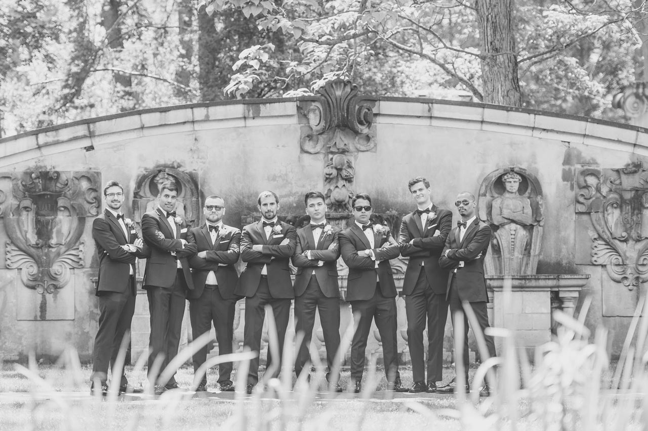 Groom and Groomsmen posing